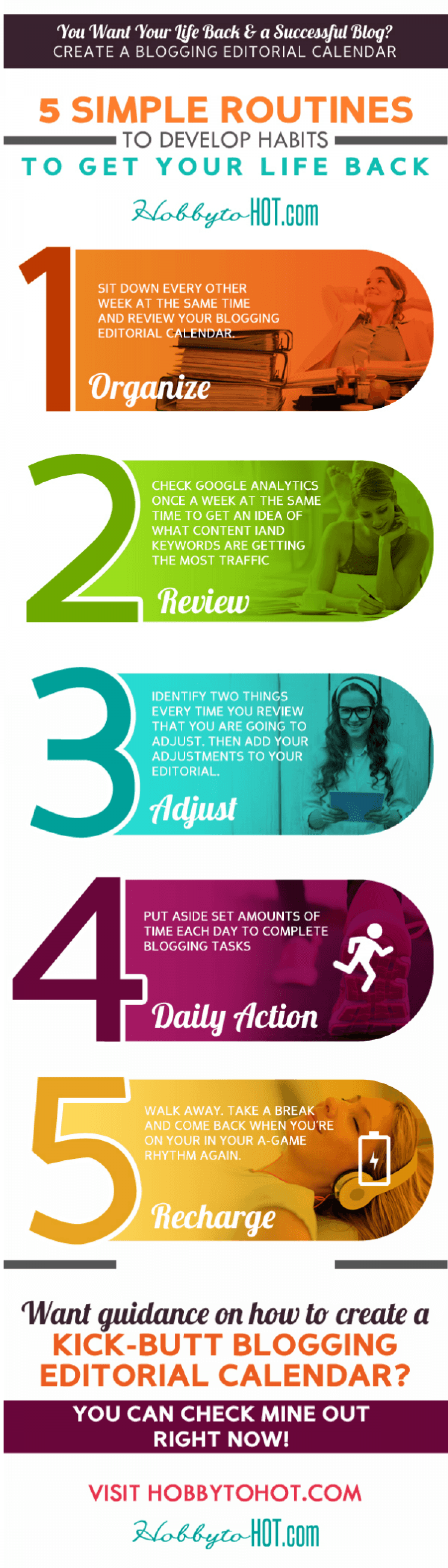 Is Blogging Overwhelming You? {5 Ways to Get Your Life Back} Infographic