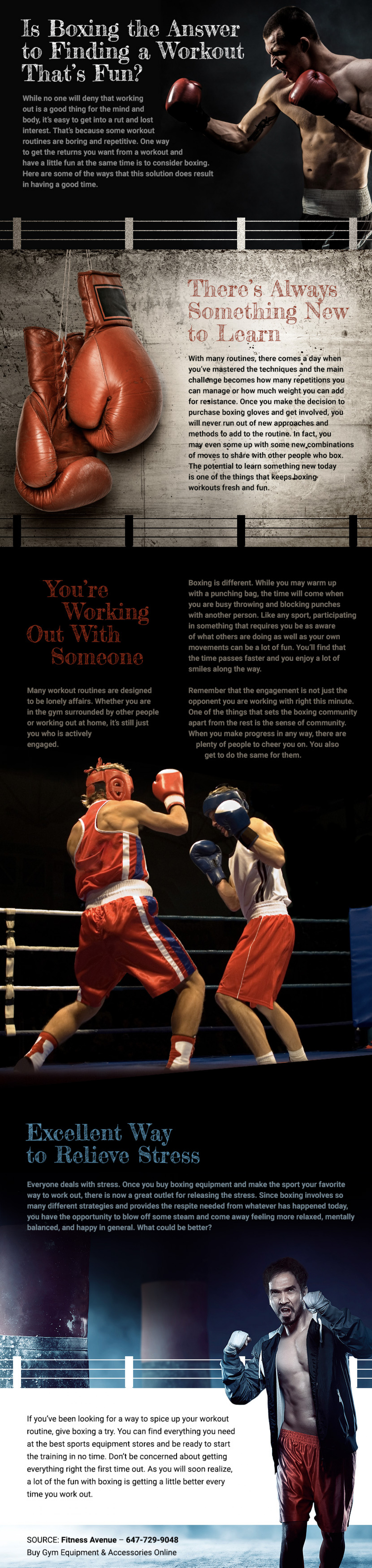 Is Boxing the Answer to Finding a Workout That's Fun? Infographic