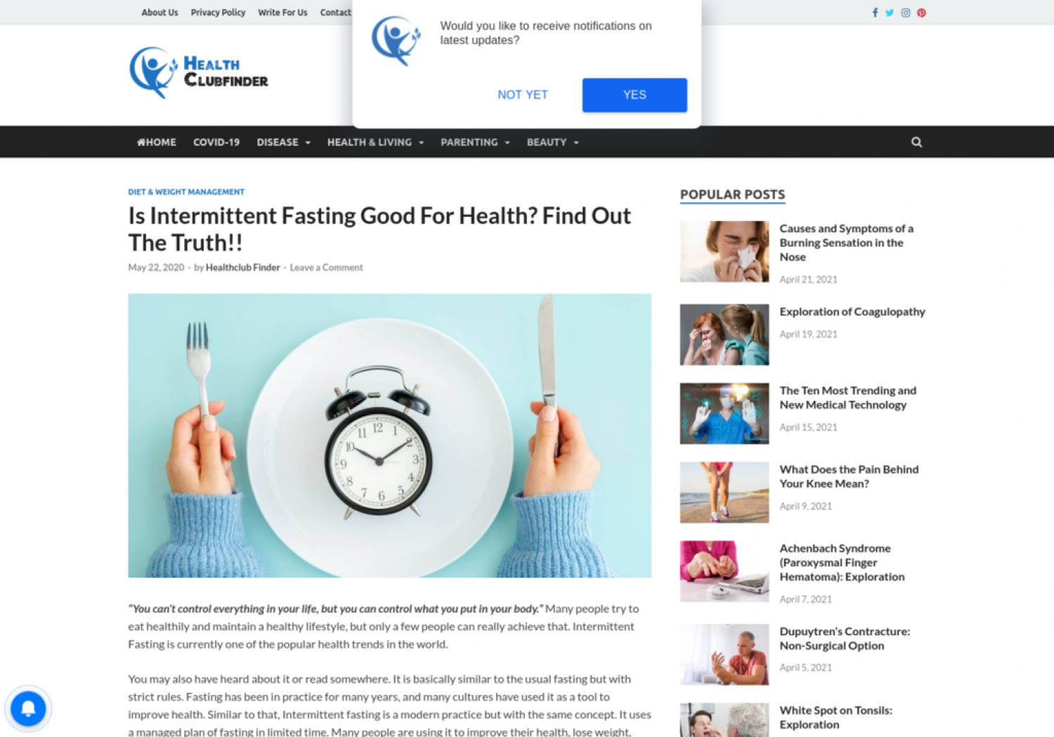Is Intermittent Fasting Good For Health? Infographic