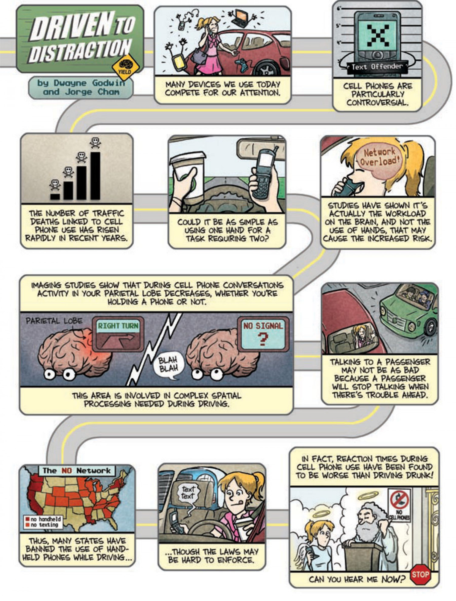 Is it safe to drive while on your hands-free phone? Infographic