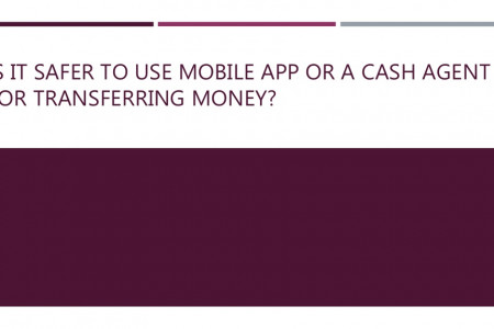 Is it safer to use mobile app or a cash agent for transferring money? Infographic