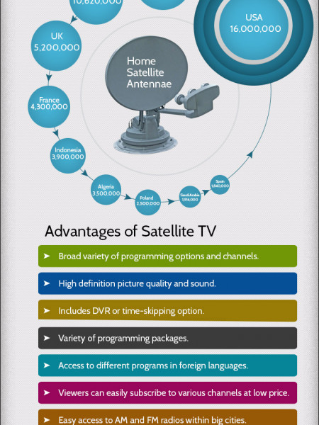 Satellite television changed the way how we watched television  Infographic