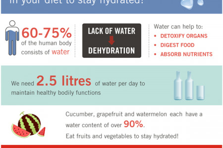 Is There Enough Water in Your Diet to Stay Hydrated? Infographic