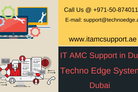 IT AMC Support in Dubai from Techno Edge Systems Infographic