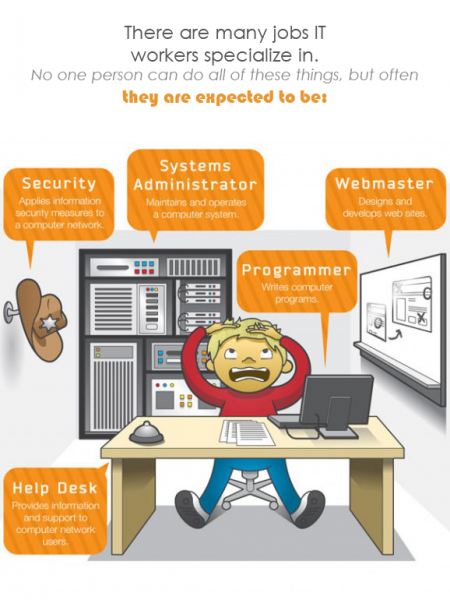 IT Computer Courses Infographic