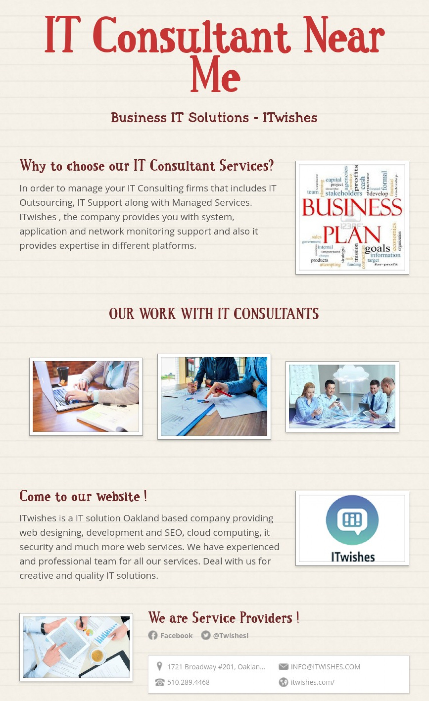 IT Consultant Near Me Infographic