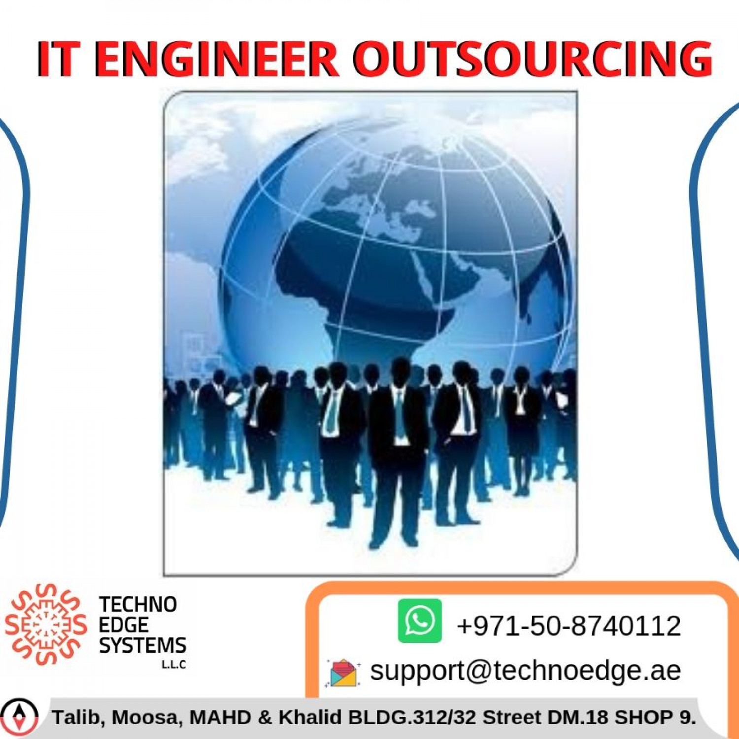 IT Engineer Outsource in Dubai at ITAMCSupport Infographic