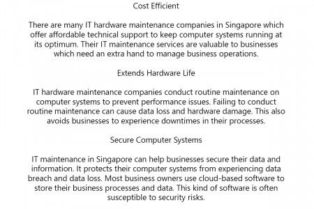 IT Maintenance in Singapore for Hardware and Software Boost Infographic