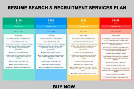 IT Recruitment Service Plans - Monthly, Quarterly, Yearly Infographic