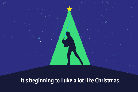 It's beginning to Luke a lot like Christmas - Star Wars Holiday Infographic Ecard Infographic