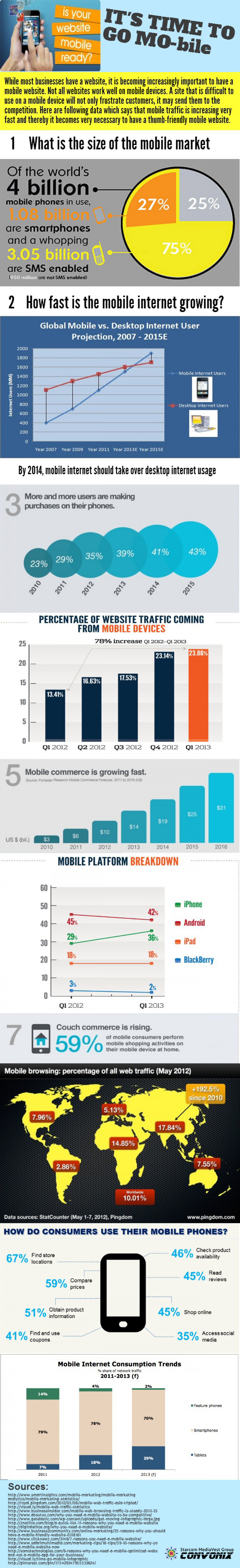 It's Time to Go Mobile Infographic