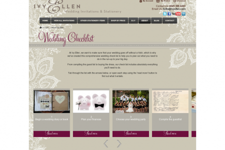 Ivy Ellen Wedding Checklist Infographic