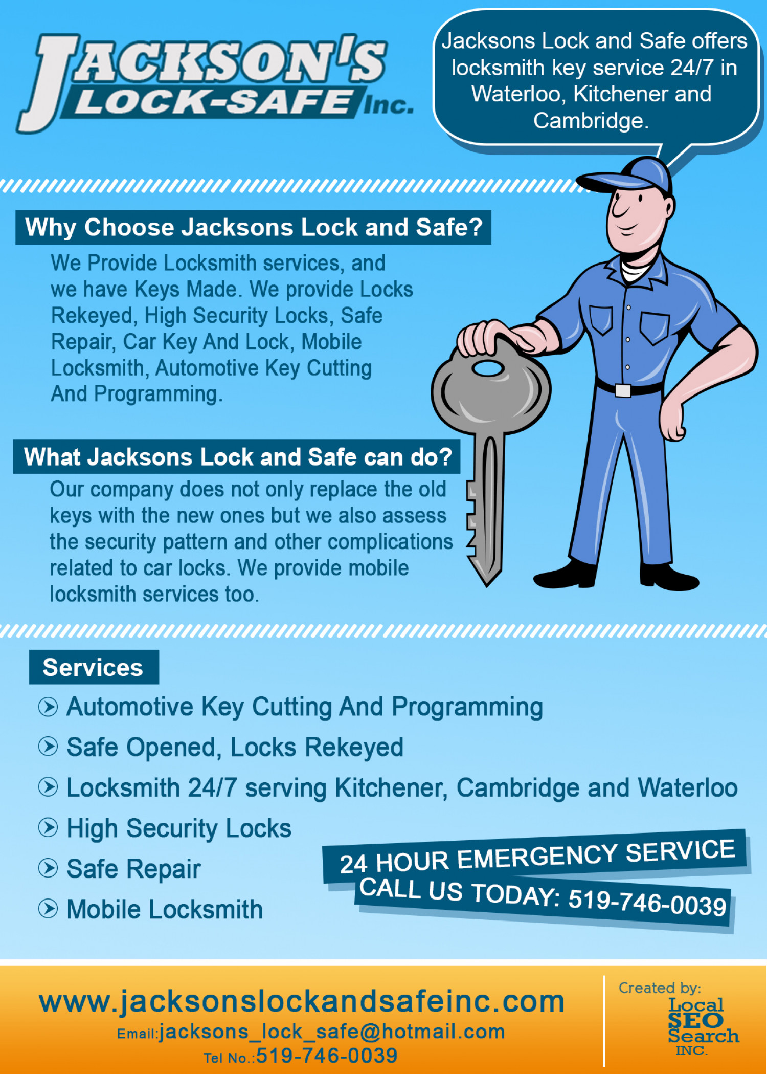 Jacksons Lock & Safe Infographics: 24/7 Locksmith Service serving ...
