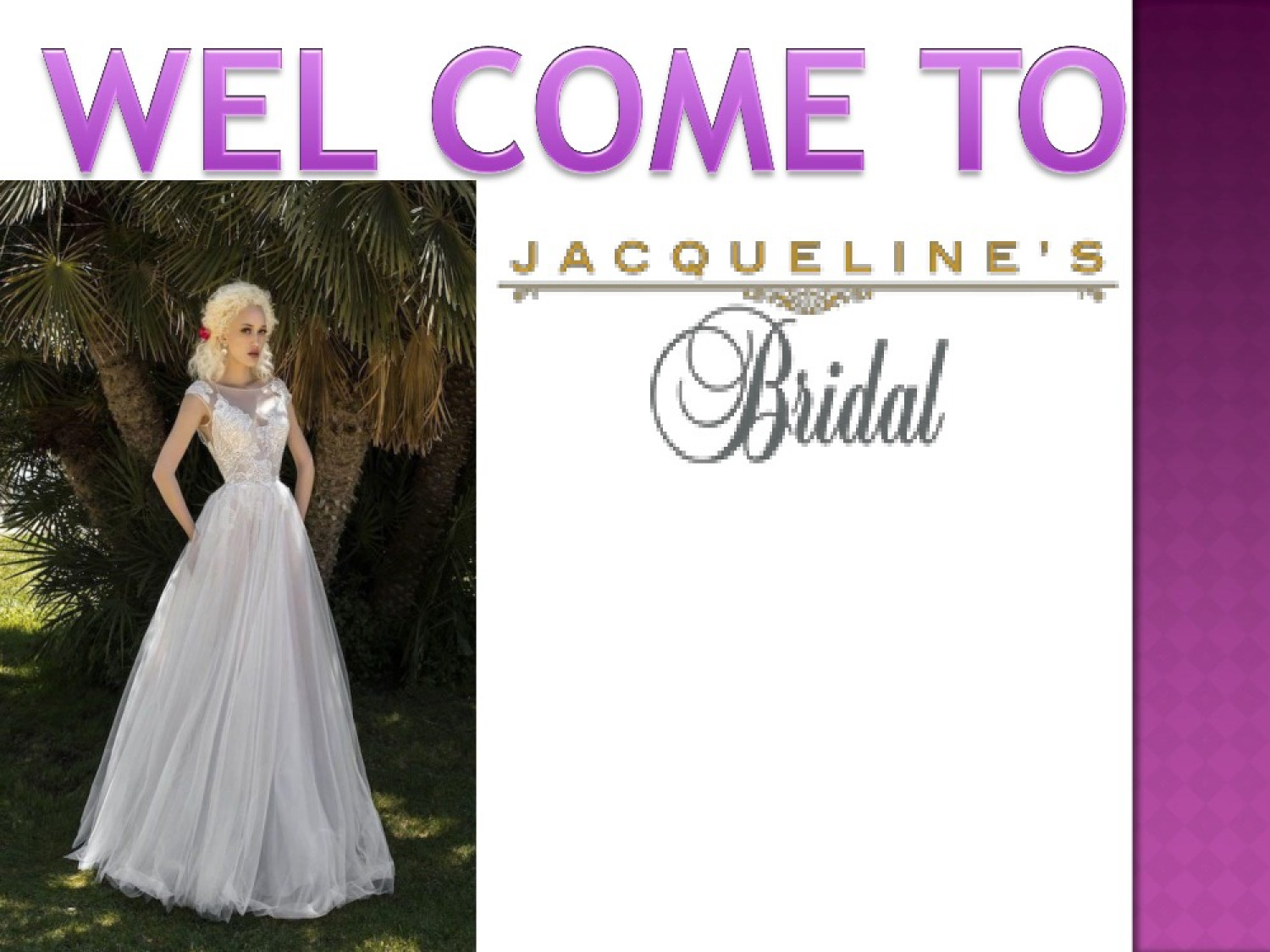 Jacqueline's Bridal – Sexy, Exclusive, Jaunty Collection For Brides Infographic