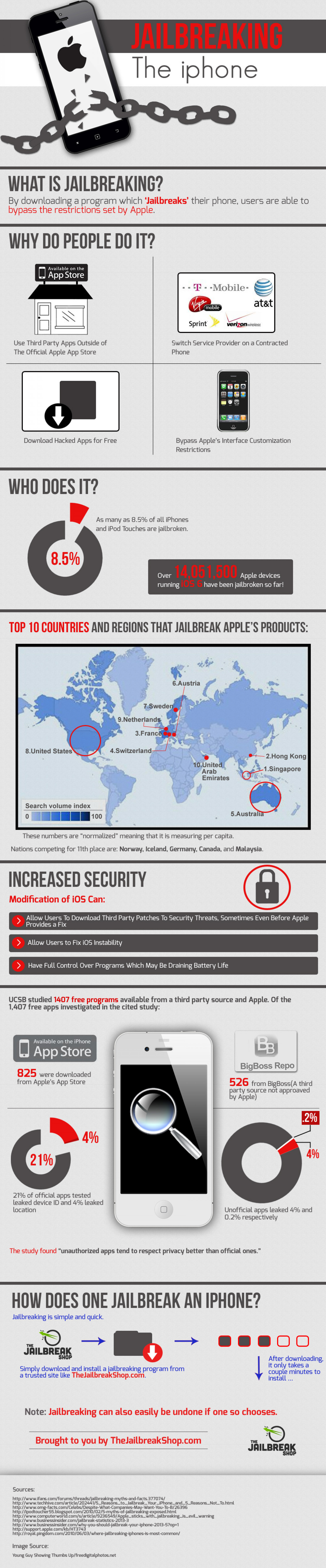 Jailbreaking the iphone Infographic