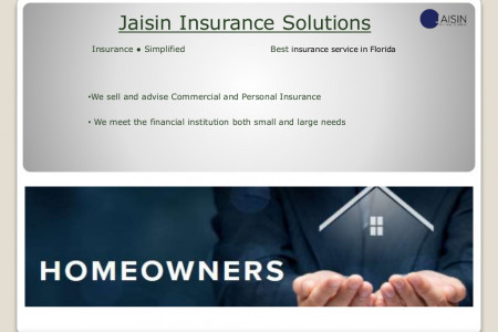 JAISIN Insurance Solutions Infographic