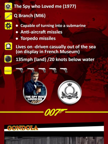 James Bond - All At Sea Top Trumps  Infographic