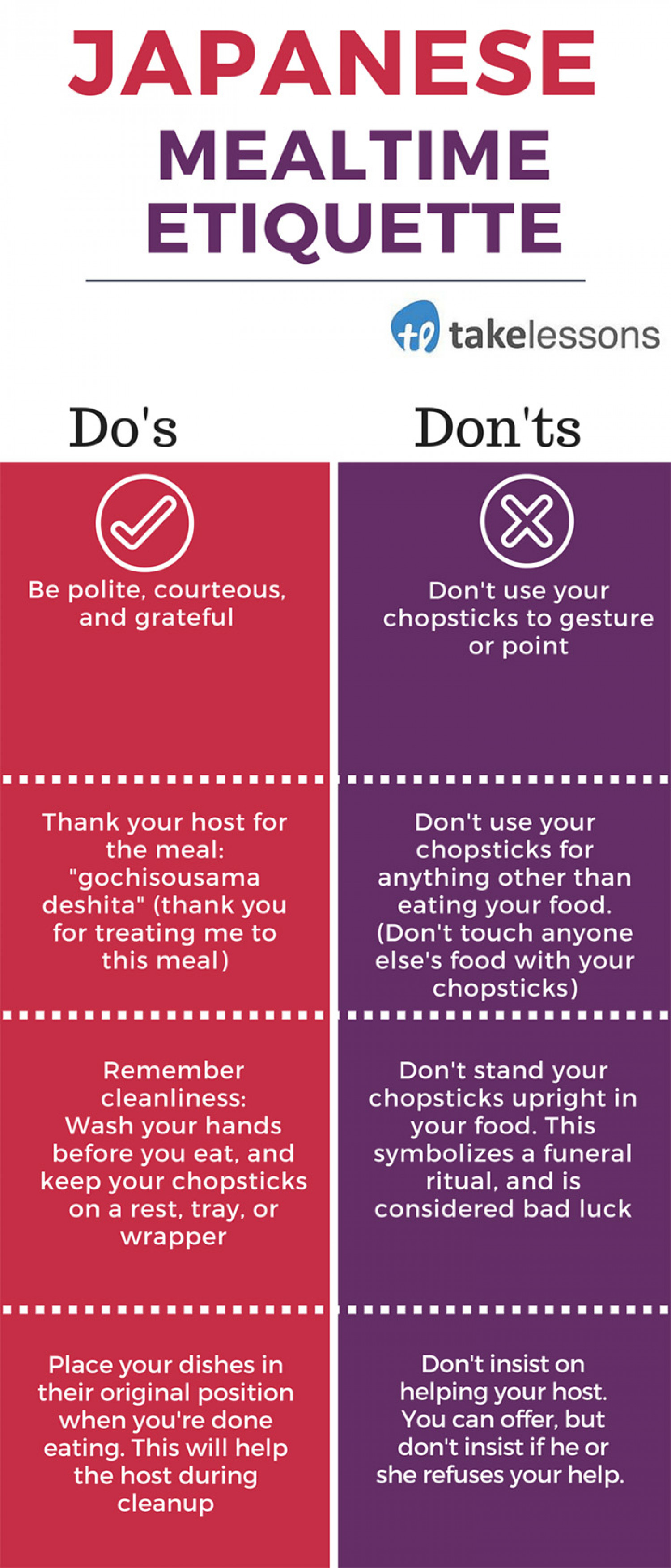 Japanese Meal Etiquette  Infographic