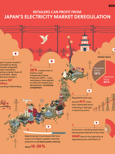 Japan's electricity market deregulation Infographic