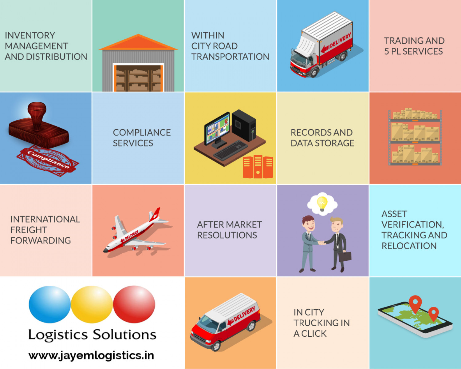 Jayem Logistics Solutions  Infographic
