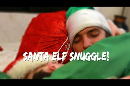 Jewish Santa cuddles an Elf for Xmass and Chanukah Infographic