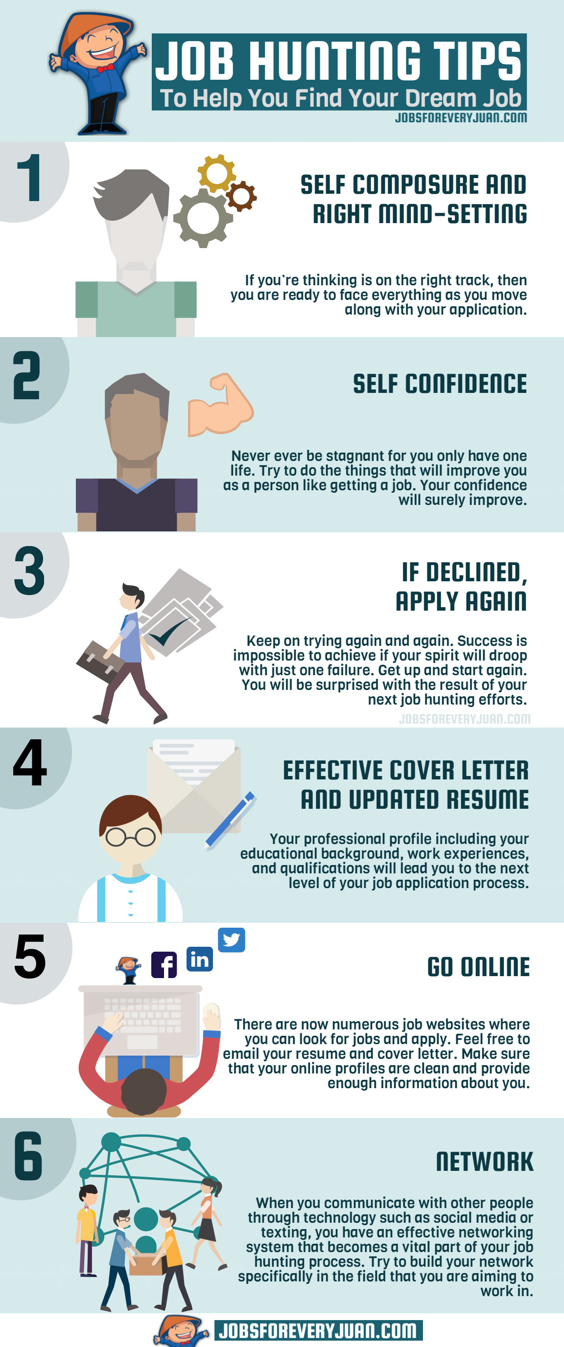 job hunting tips to help you find your dream job visual ly