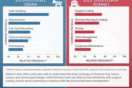 Job Skills Compared: Obama vs. Romney Supporters Infographic