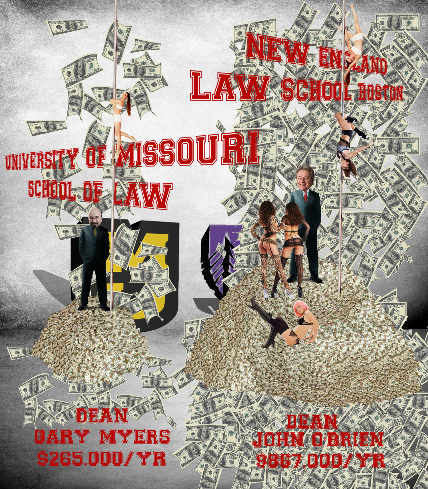 JOHN F. OBRIEN VS GARY MYERS, BATTLE OF THE LAW SCHOOL DEANS SALARIES Infographic