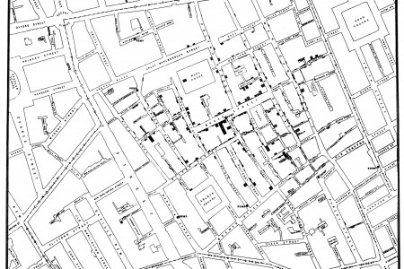 John Snow Cholera Map Infographic