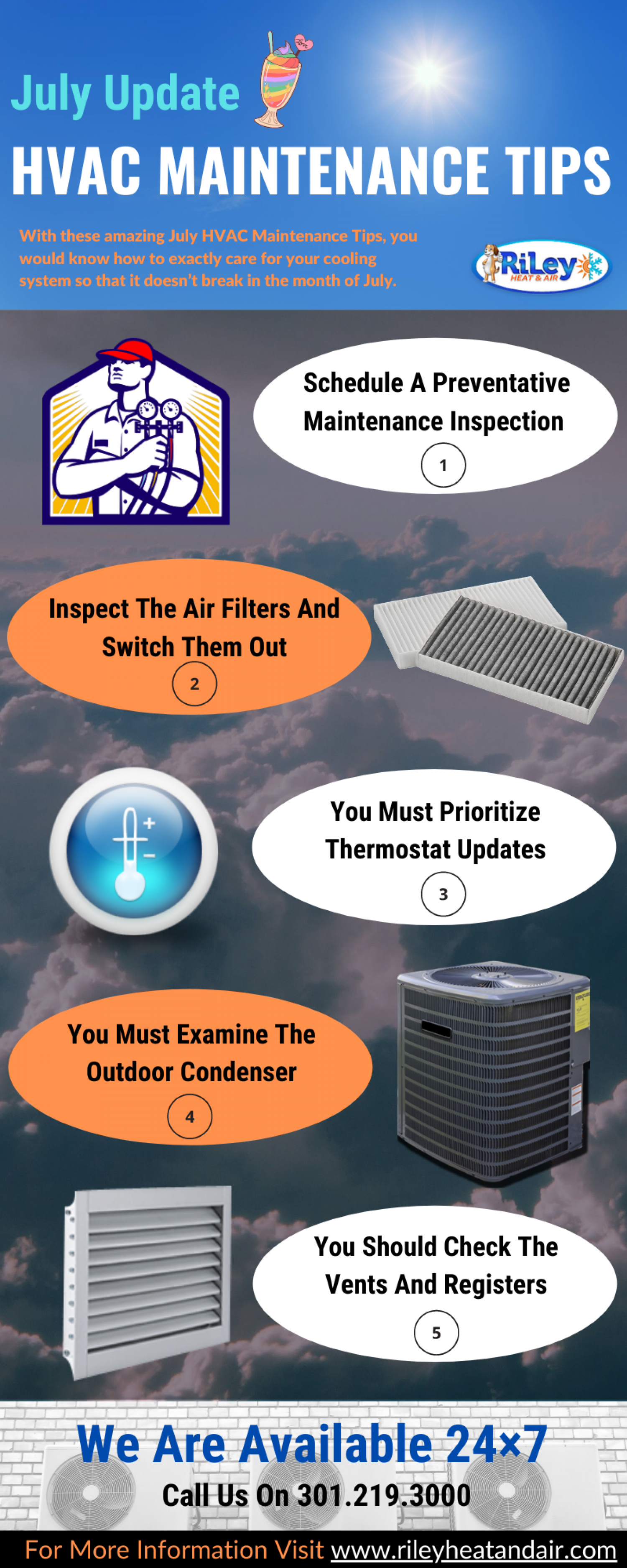 July update: HVAC maintenance tips Infographic