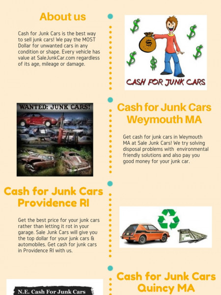 Junk Car Removal Weymouth MA at Sale Junk Cars Infographic