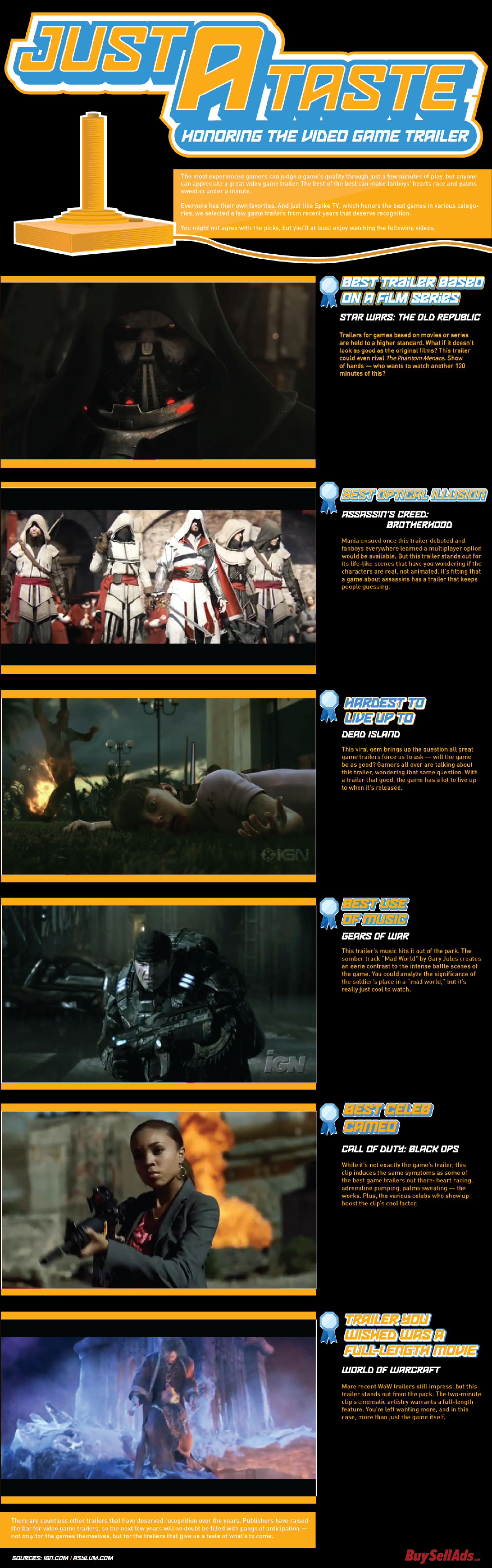 Just a Taste: Honoring the Video Game Trailer Infographic