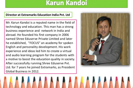 Karun Kandoi - Director at Extramarks Infographic