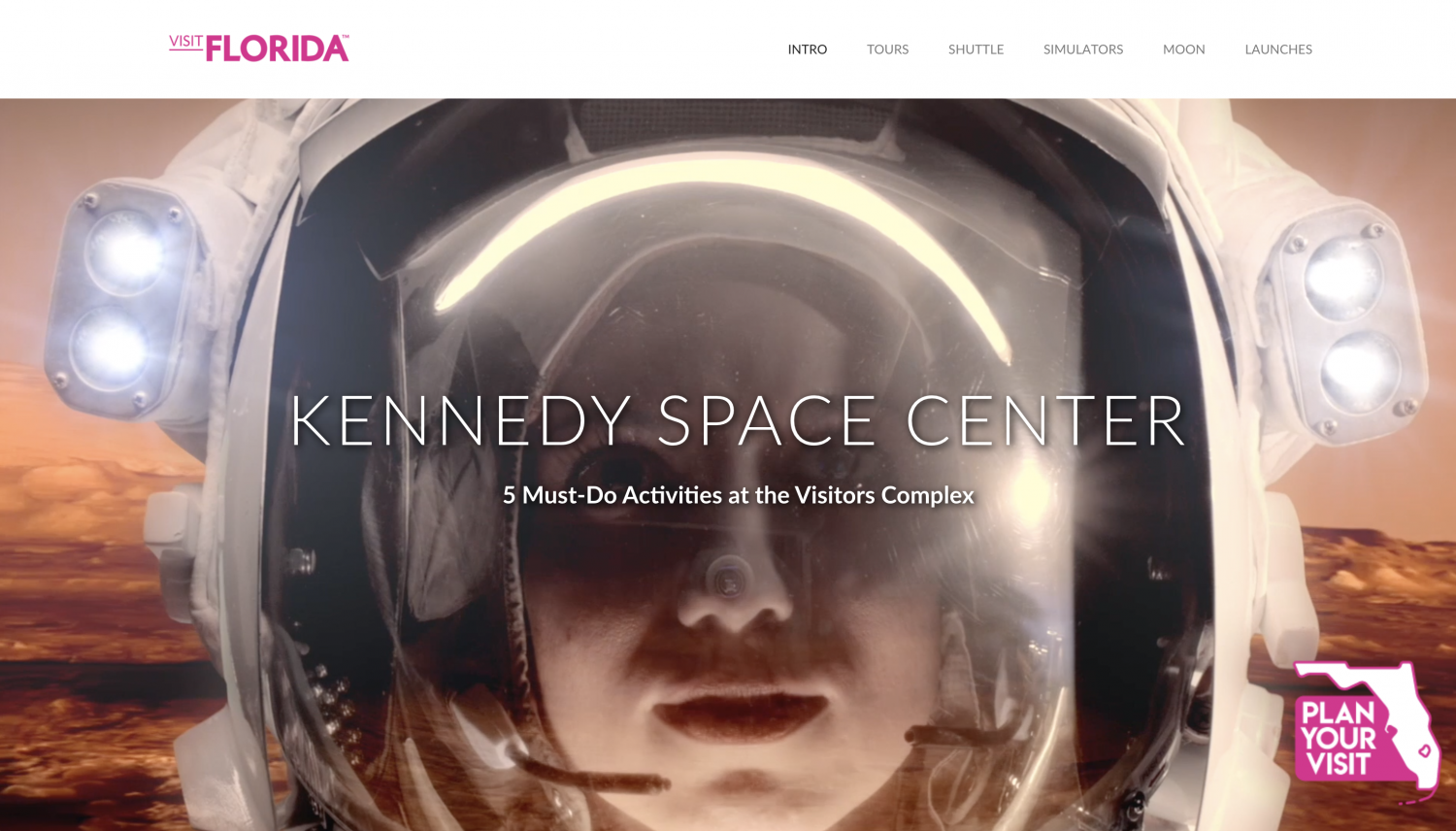 KENNEDY SPACE CENTER 5 Must-Do Activities at the Visitors Complex Infographic
