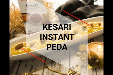 Kesari Instant Peda - A traditional milk based sweet that can be made easily and instantly. Infographic