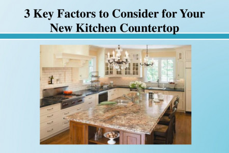 Key Factors to Consider for Your New Kitchen Countertop Infographic