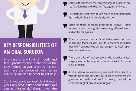 Key Responsibilities Of an Oral Surgeon Infographic