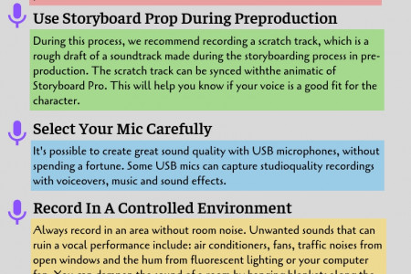 Key Tips For Doing Voiceovers in Budget Infographic