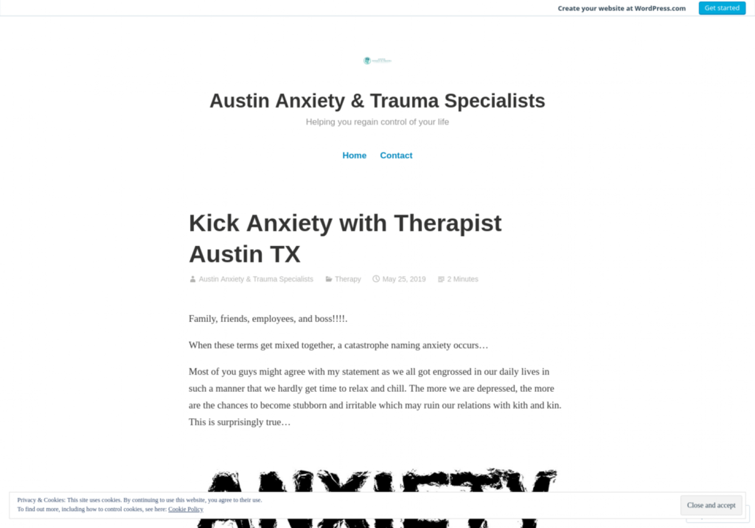 Kick Anxiety with Therapist Austin TX Infographic