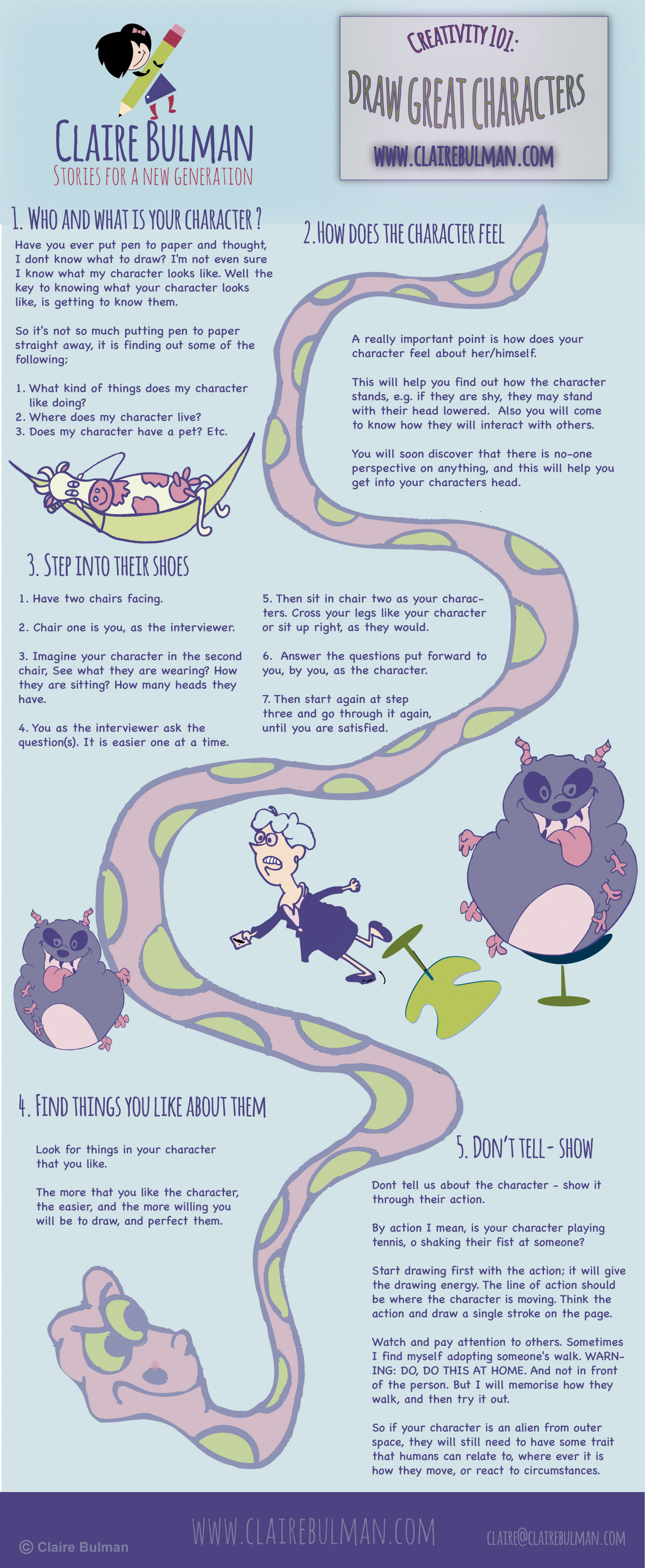 Kids books: How to draw totally awesome characters that rock Infographic
