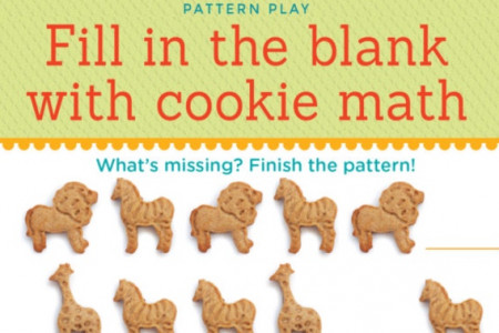Kids Cookie Math Infographic