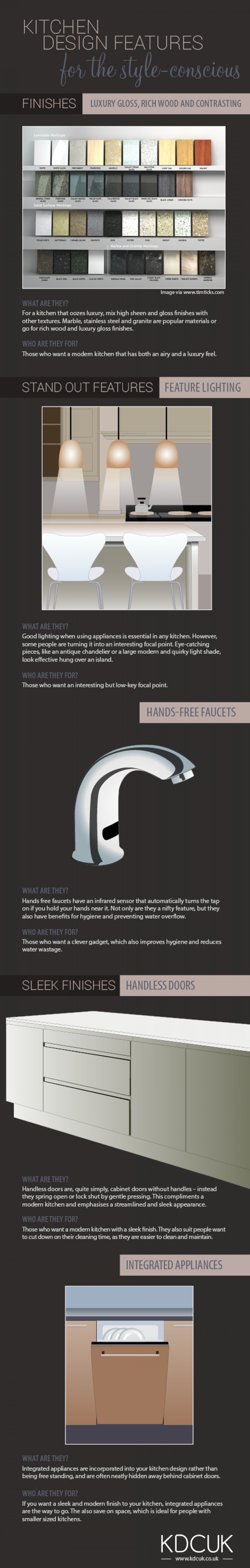 Kitchen Design Touches for the Style Conscious Infographic