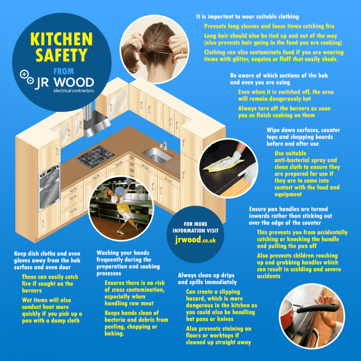 Kitchen Safety Guide - JR Wood | Visual.ly