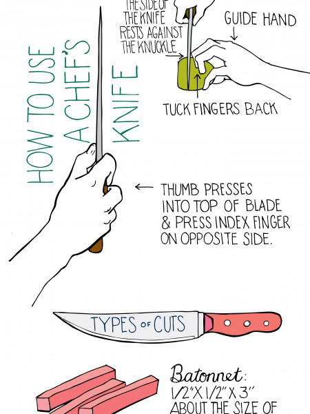 Knife Skills Infographic