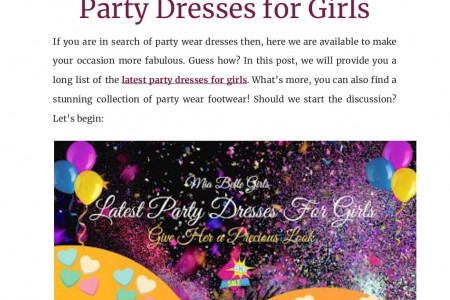 Know A Selection Of Latest Party Dresses For Girls Infographic