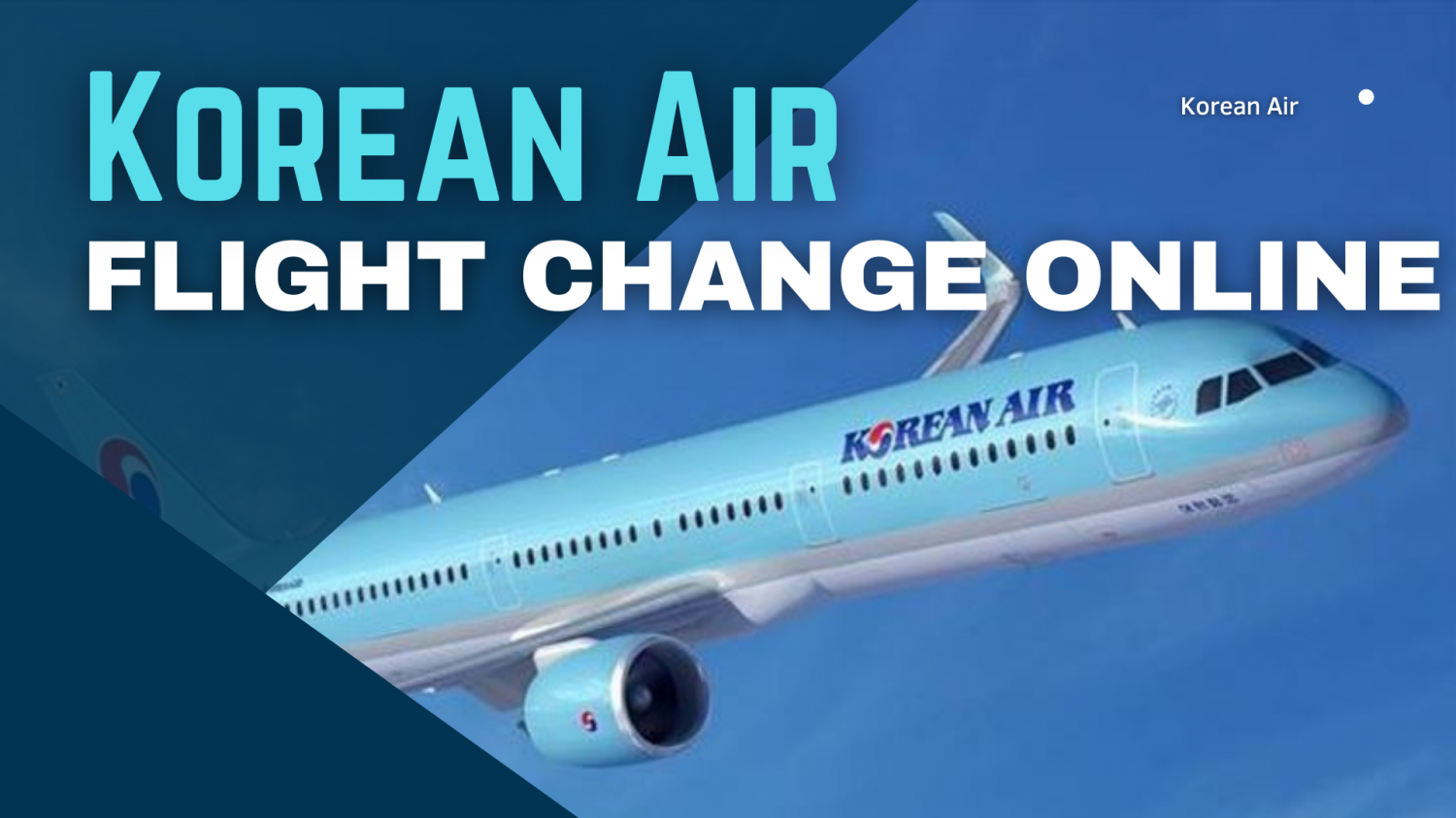 Know about Korean Air Flight change online process Infographic