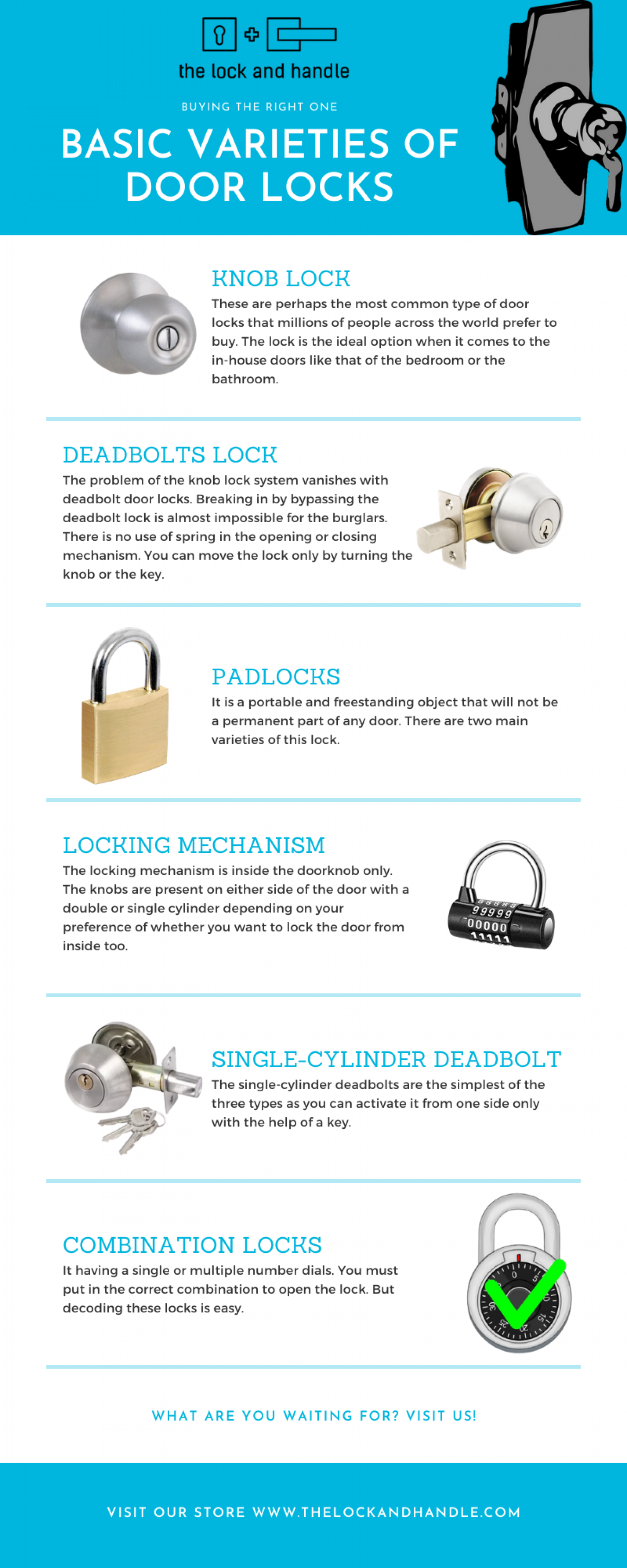 Know About the Basic Varieties of Door Locks - The Lock & Handle Infographic