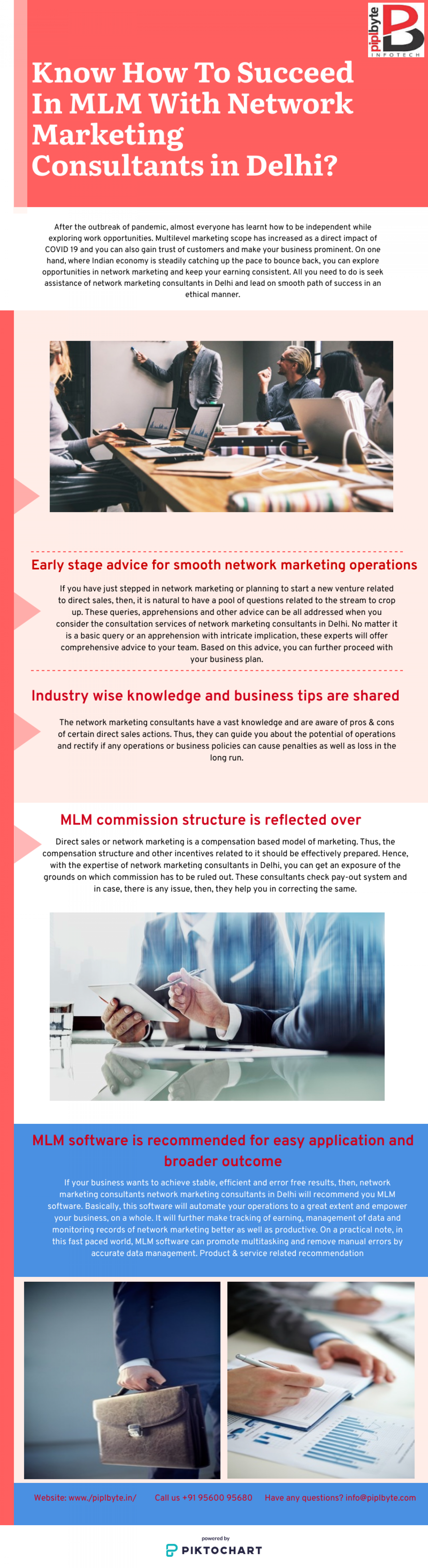 Know How To Succeed In MLM With Network Marketing Consultants in Delhi? Infographic