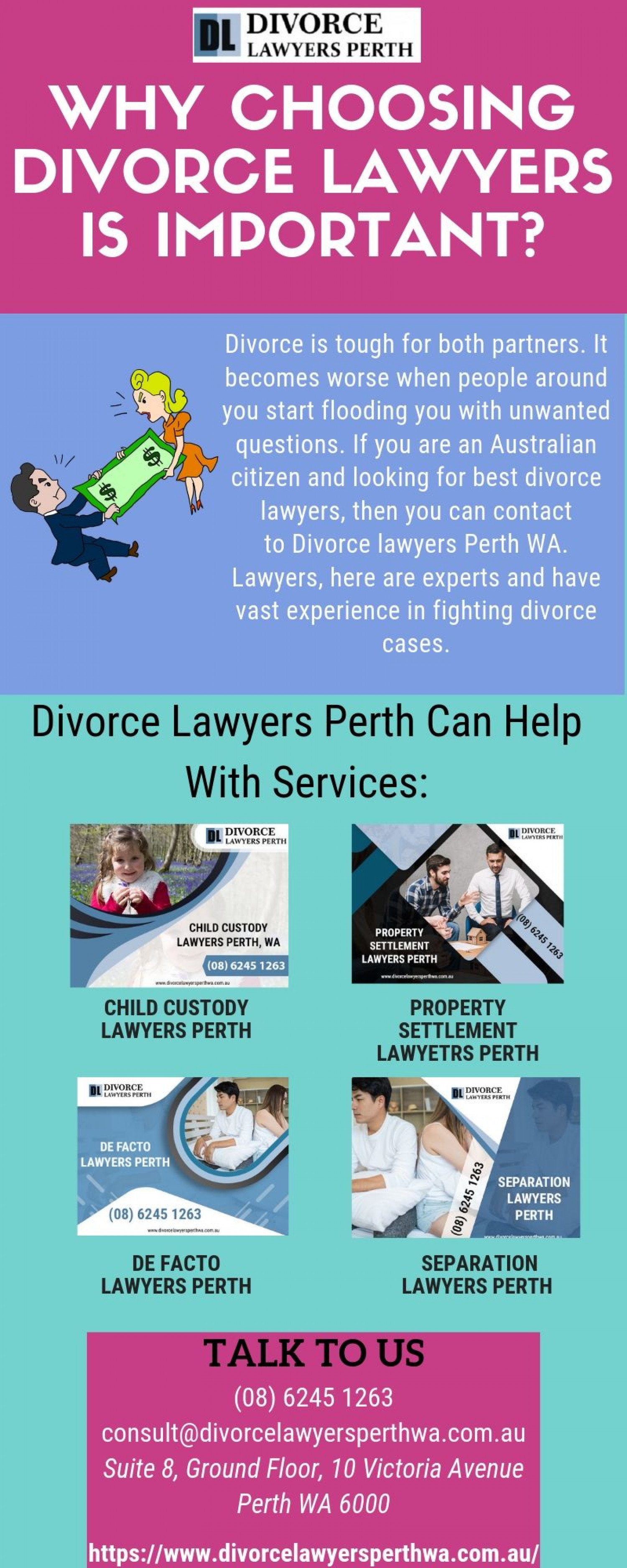 Know the importance of Divorce Lawyers during divorce proceedings Infographic