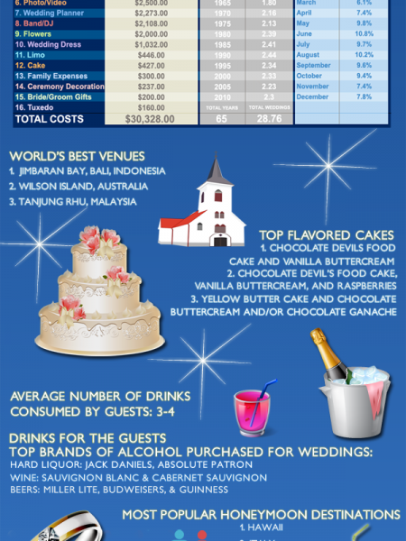 Know the real costs of a wedding Infographic